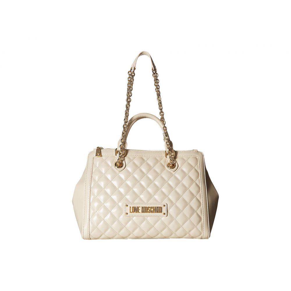 モスキーノ LOVE Moschino レディース バッグ ハンドバッグ【Shiny Quilted Handbag with Chain Strap】Ivory