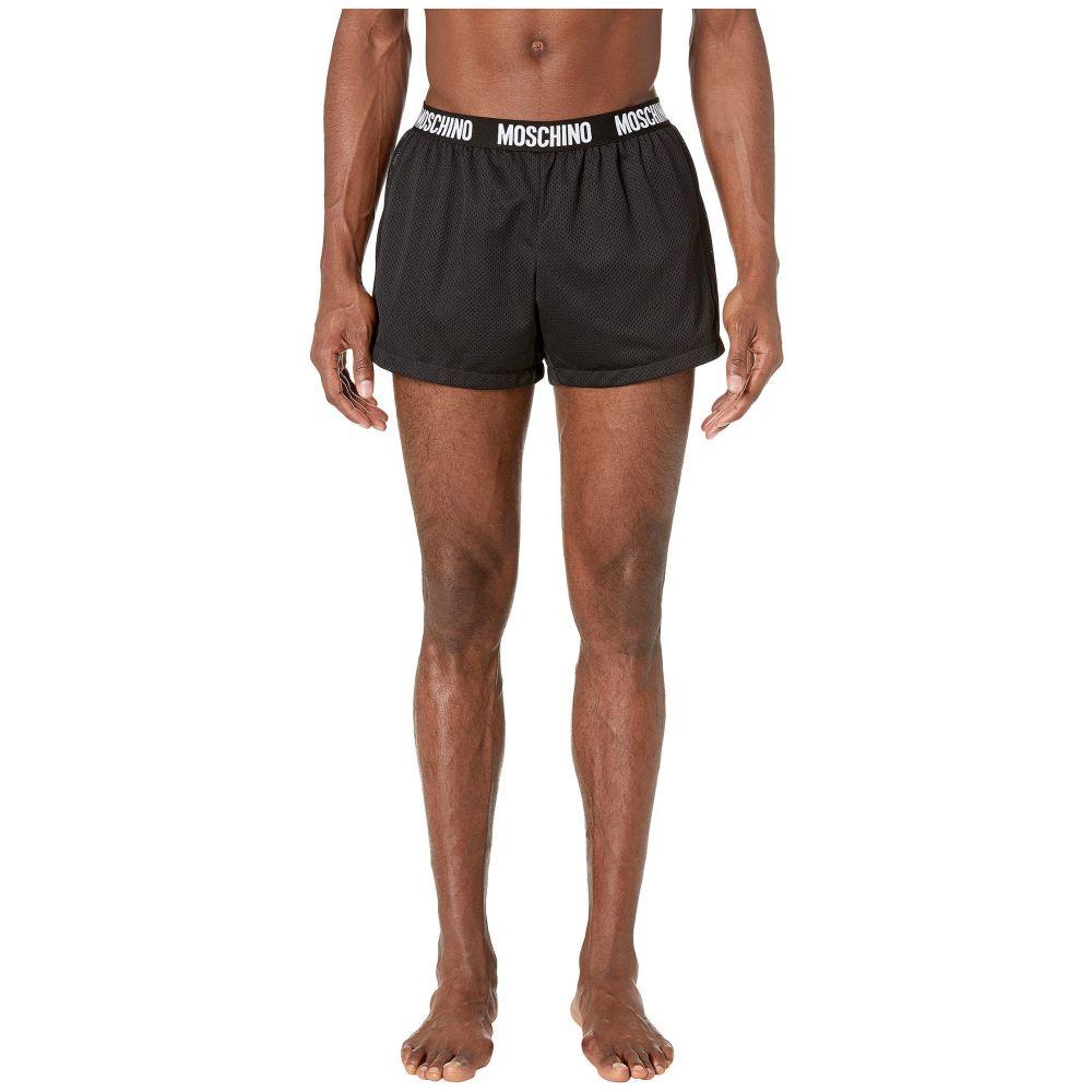モスキーノ Moschino メンズ 水着・ビーチウェア 海パン【Mesh Swim Shorts】Black