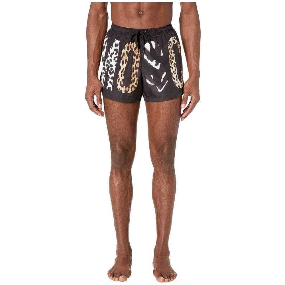 モスキーノ Moschino メンズ 水着・ビーチウェア 海パン【Patchwork Animalier Swim Shorts】Black Multi