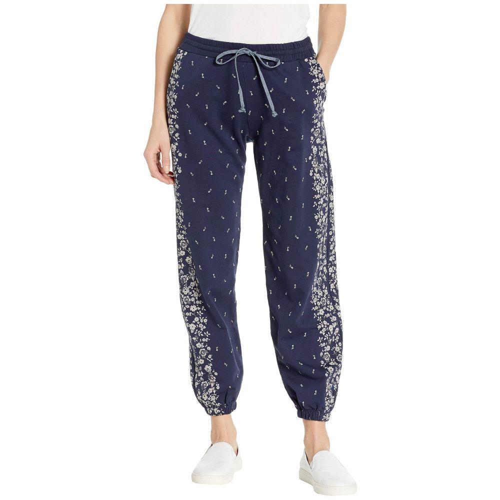 ラッキーブランド Lucky Brand レディース ボトムス・パンツ スウェット・ジャージ【Floral Placed Sweatpants】American Navy