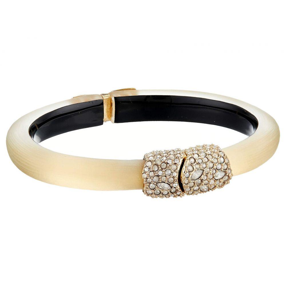 アレクシス ビッター Alexis Bittar レディース ジュエリー・アクセサリー ブレスレット【Crystal Encrusted Clasp Skinny Hinge Bracelet】Gold