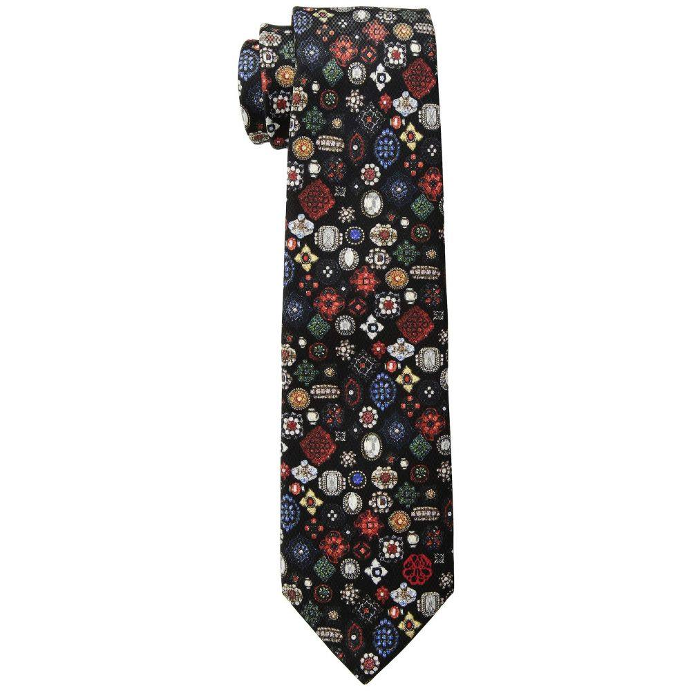 アレキサンダー マックイーン Alexander McQueen メンズ ネクタイ【Small Jewel Tie】Black/Red