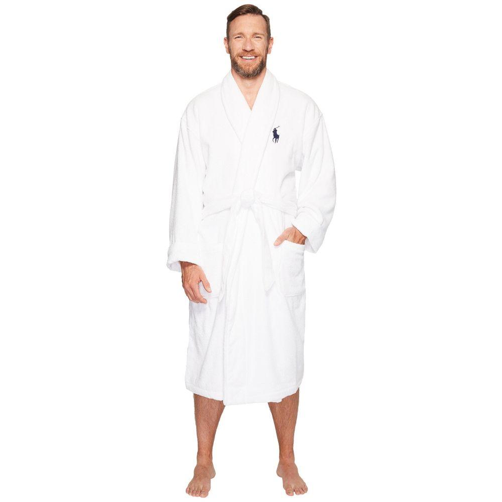 ラルフ ローレン Polo Ralph Lauren メンズ インナー・下着 ガウン・バスローブ【Big Velour Kimono Robe】White