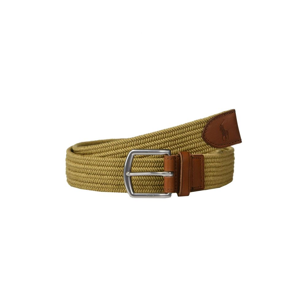 ラルフ ローレン Polo Ralph Lauren メンズ ベルト【34mm Braided Fabric Stretch Belt】Timber Brown