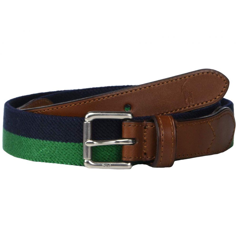 ラルフ ローレン Polo Ralph Lauren メンズ ベルト【34mm Braid Fabric Stretch Belt】Navy/Green