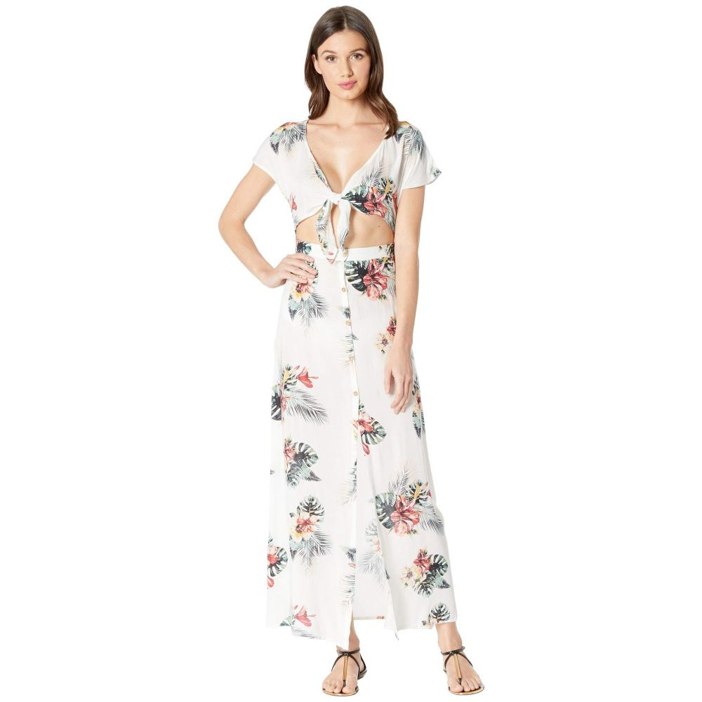 ロキシー Roxy レディース 水着 Cover-Up・ビーチウェア ロキシー ビーチウェア【Ubud Walk レディース Cover-Up Swimsuit Dress】Bright White Tropical Nights Big, シオガマシ:c199c95d --- officewill.xsrv.jp