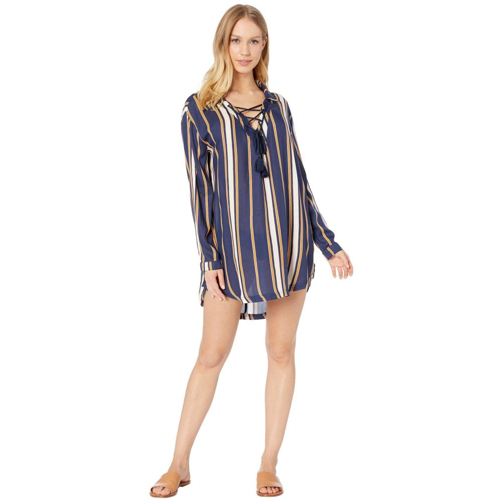 激安の ロキシー Roxy Roxy レディース Cover-Up Blue 水着・ビーチウェア ビーチウェア【Lonely For You Cover-Up Dress】Medieval Blue Macy Stripe, アキ オンラインショップ:6804c0a9 --- konecti.dominiotemporario.com