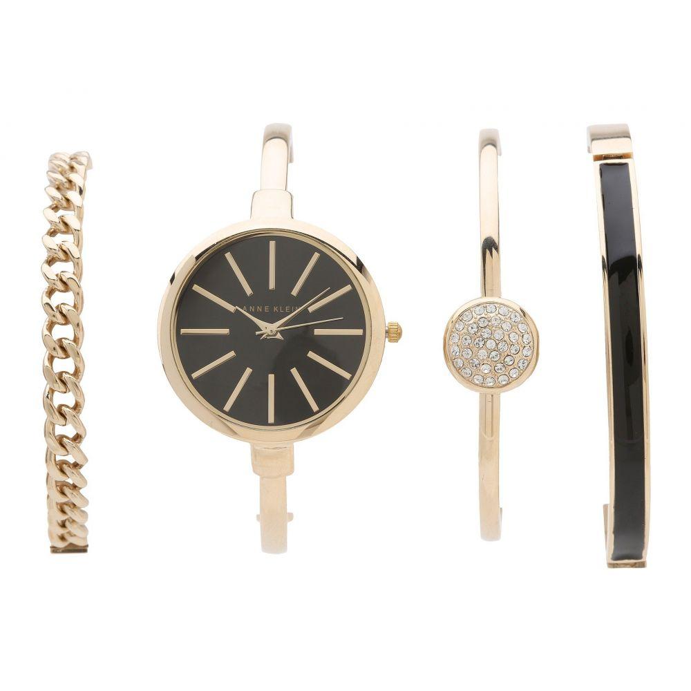 アン クライン Anne Klein レディース 腕時計【AK-1470GBST】Gold/Black
