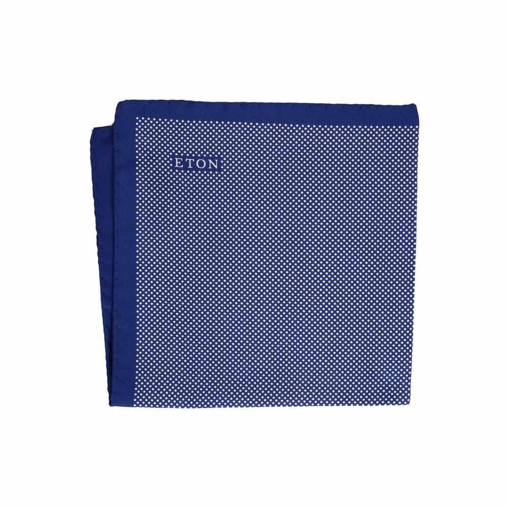 イートン Eton メンズ ハンカチ・チーフ【Signature Dot Pocket Square】Blue