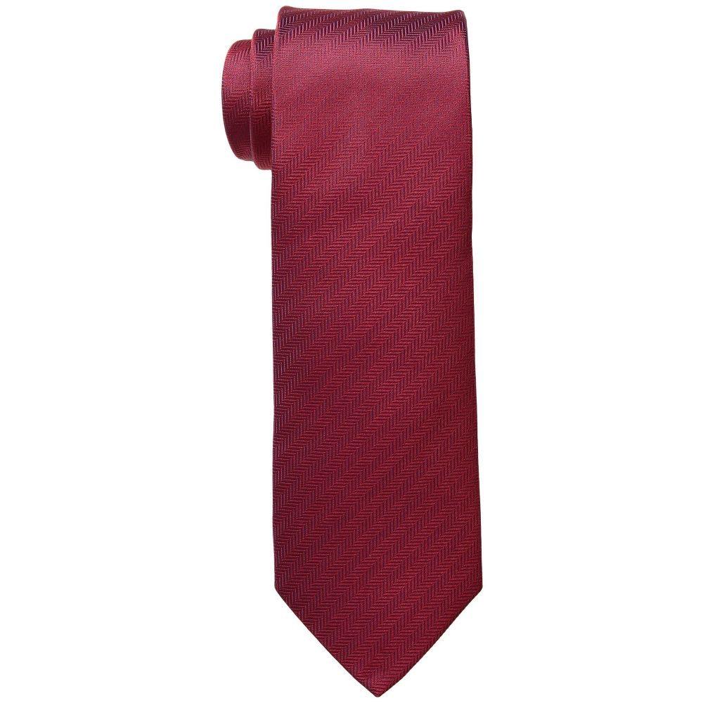 イートン Eton メンズ ネクタイ【8cm Herringbone Tie】Red