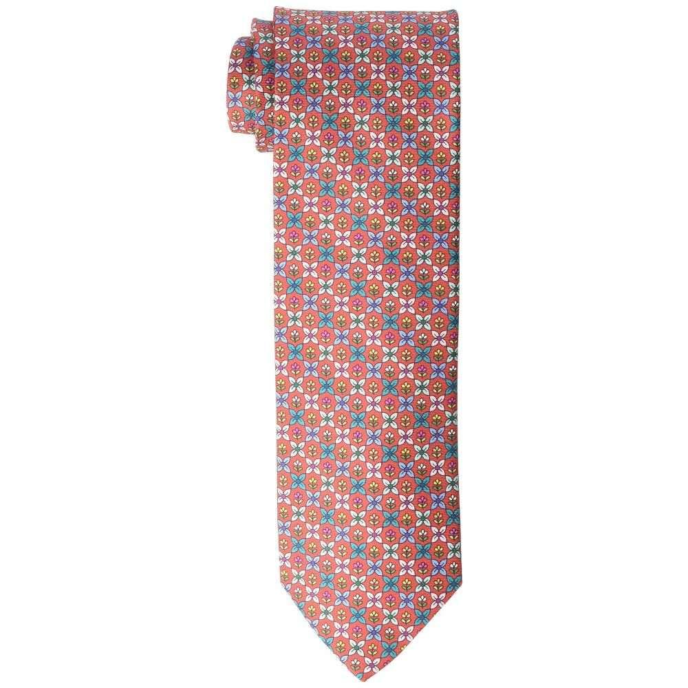 イートン Eton メンズ ネクタイ【Floral Medallion Print Tie】Red