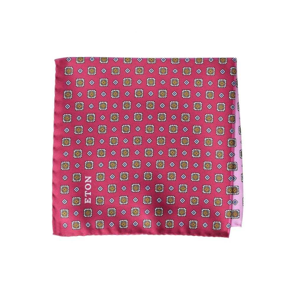 イートン Eton メンズ ハンカチ・チーフ【4 Quadrent Pocket Square】Pink