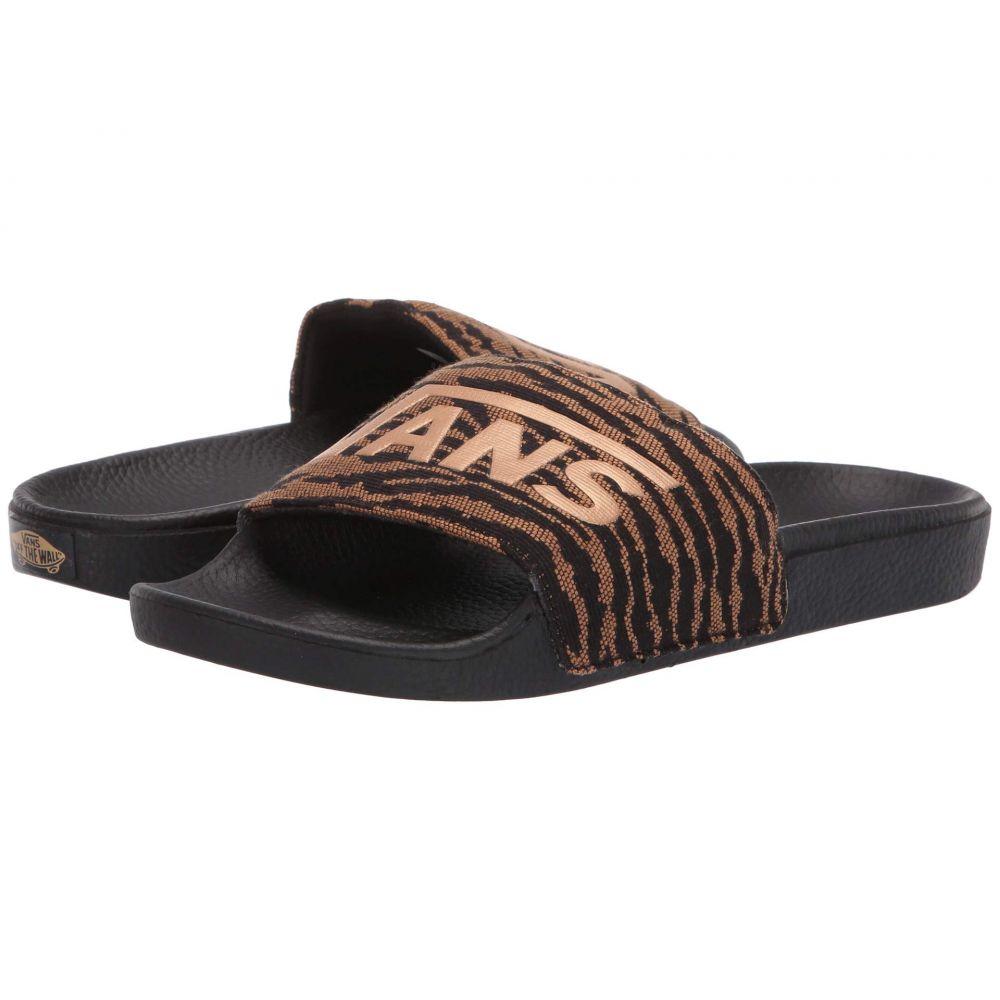 ヴァンズ Vans レディース シューズ・靴 サンダル・ミュール【Slide-On】Woven Tiger) Black