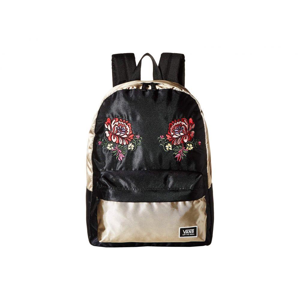 ヴァンズ Vans レディース バッグ バックパック・リュック【Deana Festival Embroidery Backpack】Gold Shine