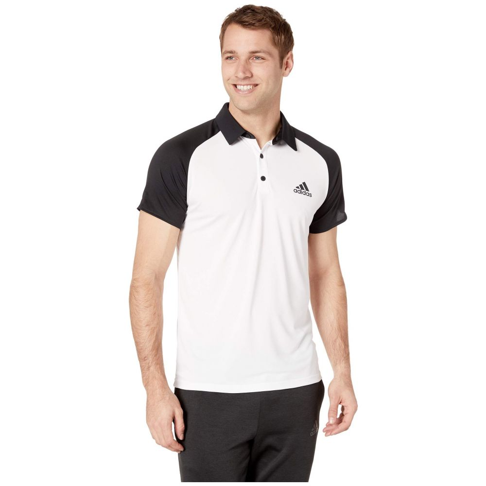 アディダス adidas メンズ トップス ポロシャツ【Club Colorblock Polo】White/Black