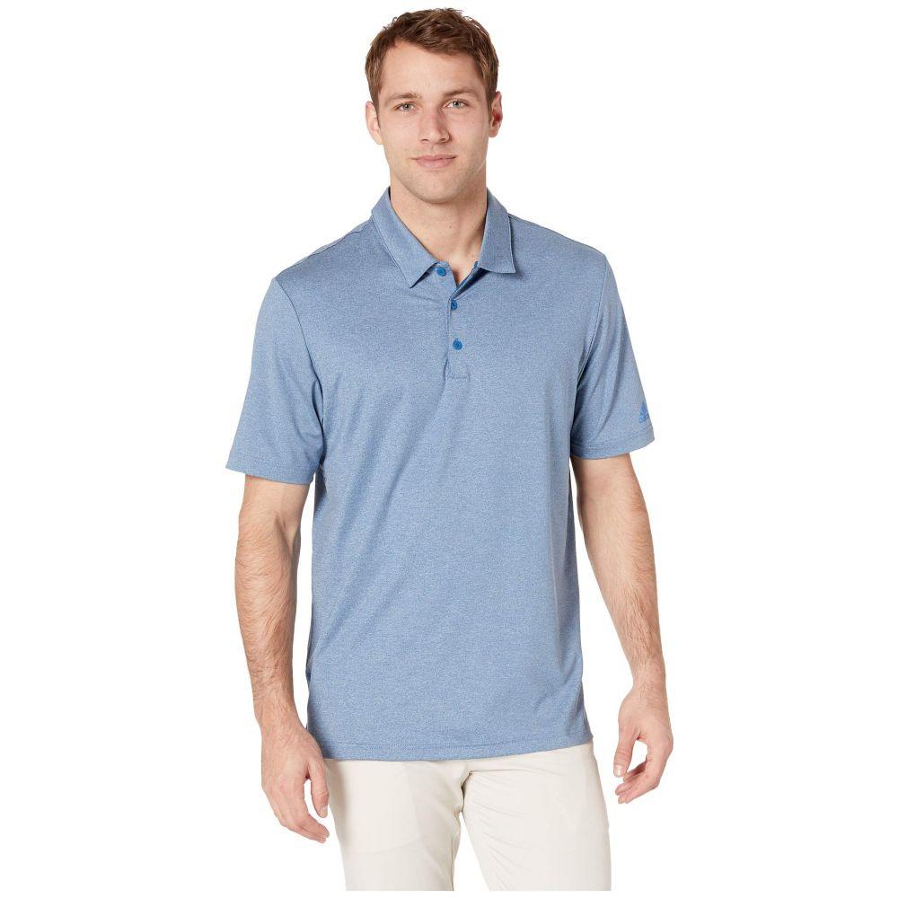 アディダス adidas Golf メンズ トップス ポロシャツ【Ultimate Heather Polo】Dark Marine Heather/True Blue