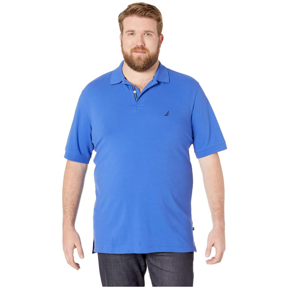 ノーティカ Nautica Big & Tall メンズ トップス 半袖シャツ【Big & Tall Short Sleeve Solid Deck Shirt】Cobalt Wave