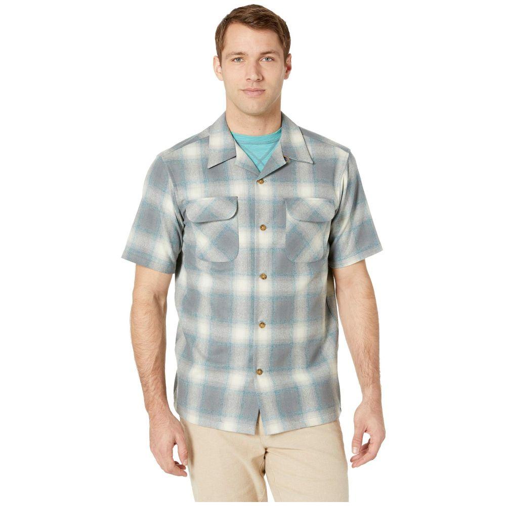 ペンドルトン Pendleton メンズ トップス 半袖シャツ【Short Sleeve Board Shirt】Surf Blue/Mix Grey Ombre