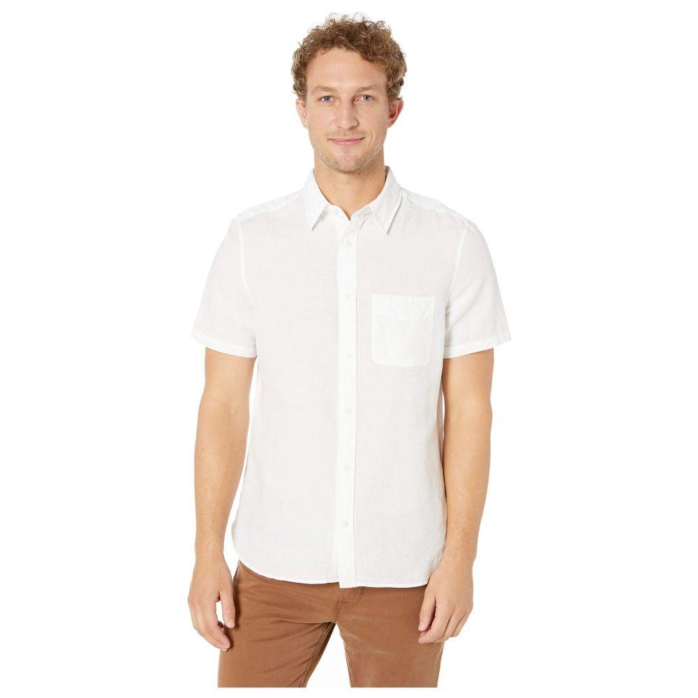 カルバンクライン Calvin Klein メンズ トップス 半袖シャツ【Short Sleeve Linen Blend Shirt】Standard White