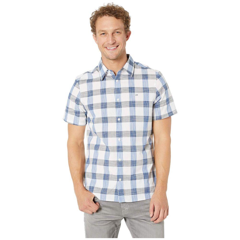 カルバンクライン Calvin Klein メンズ トップス 半袖シャツ【Short Sleeve Plaid Button Down Shirt】Black
