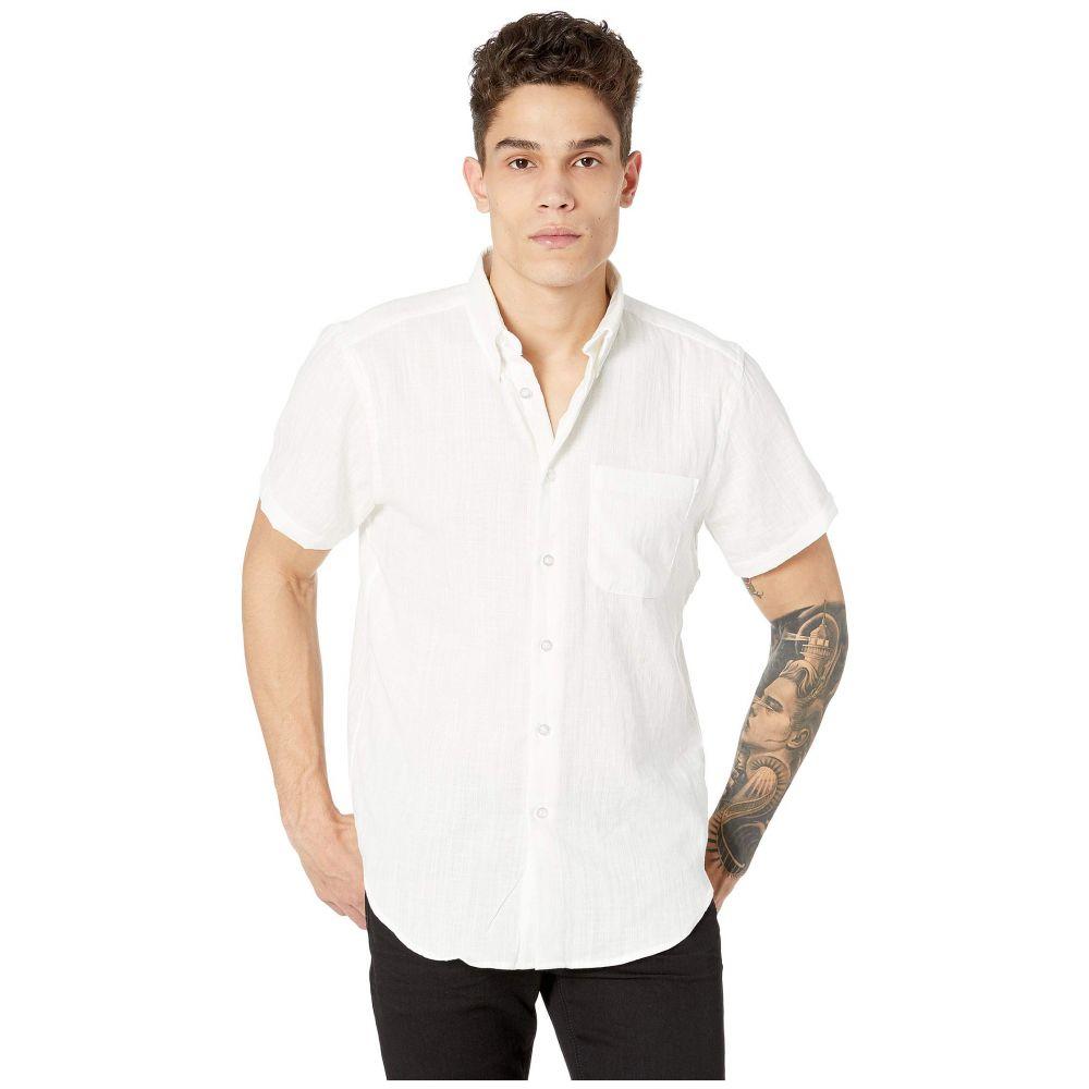 ネイキッド アンド フェイマス Naked & Famous メンズ トップス 半袖シャツ【Short Sleeve Easy Shirt】Double Weave Gauze Slub/White