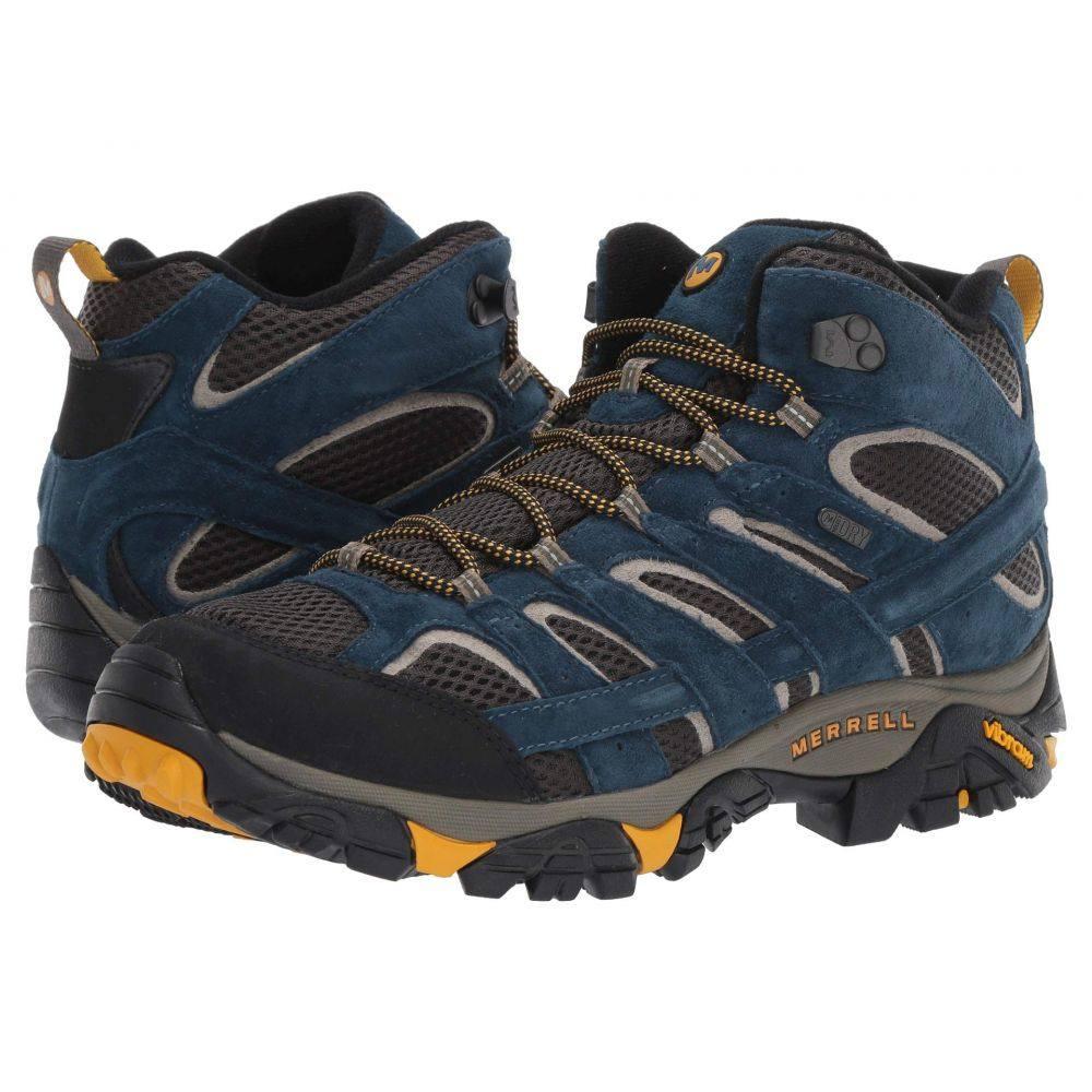 メレル Merrell メンズ ハイキング・登山 シューズ・靴【Moab 2 Mid Waterproof】Olive Blue