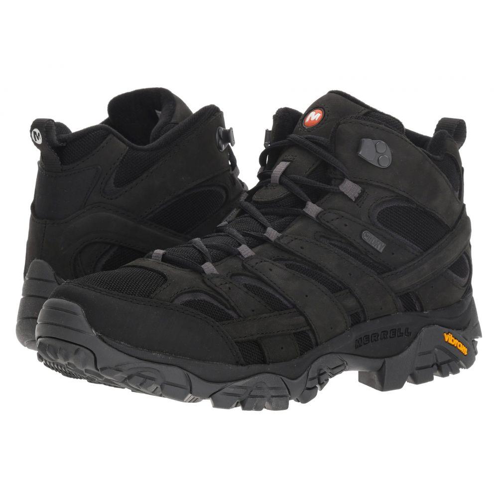 メレル Merrell メンズ ハイキング・登山 シューズ・靴【Moab 2 Smooth Mid Waterproof】Black