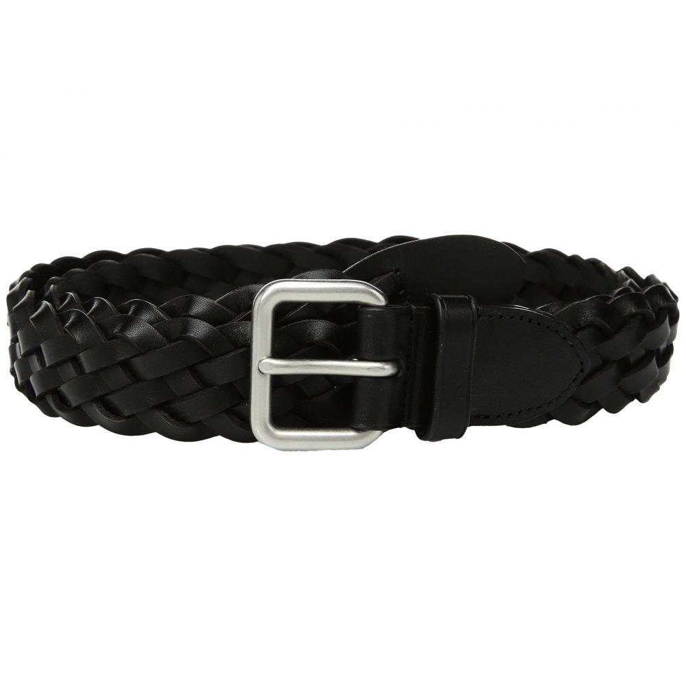 コーチ COACH メンズ ベルト【32mm Woven Belt in Leather】Rl/Black