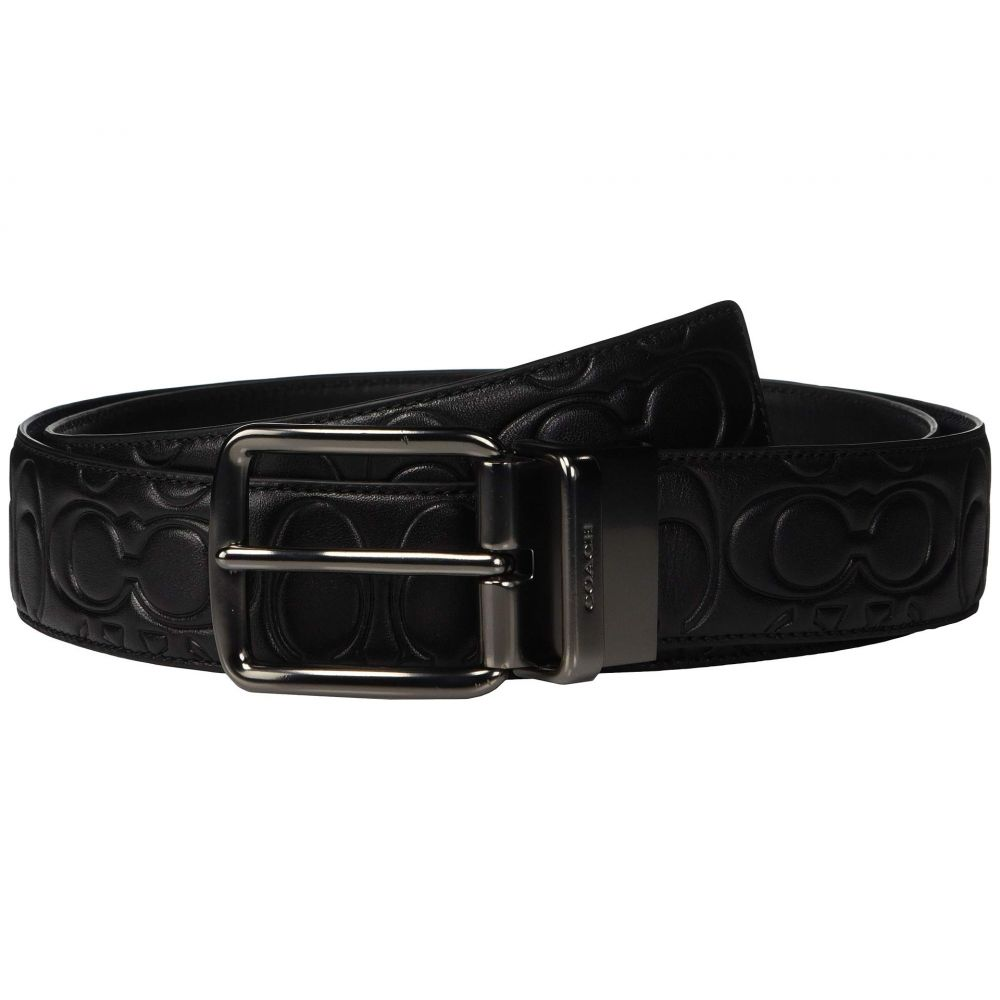コーチ COACH メンズ ベルト【38 mm CTS Harness Belt in Signature Leather】Black/Black