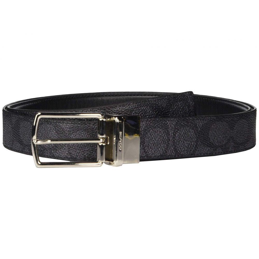 コーチ COACH メンズ ベルト【Modern Harness CTS/Reversible Signature Belt】Charcoal/Black