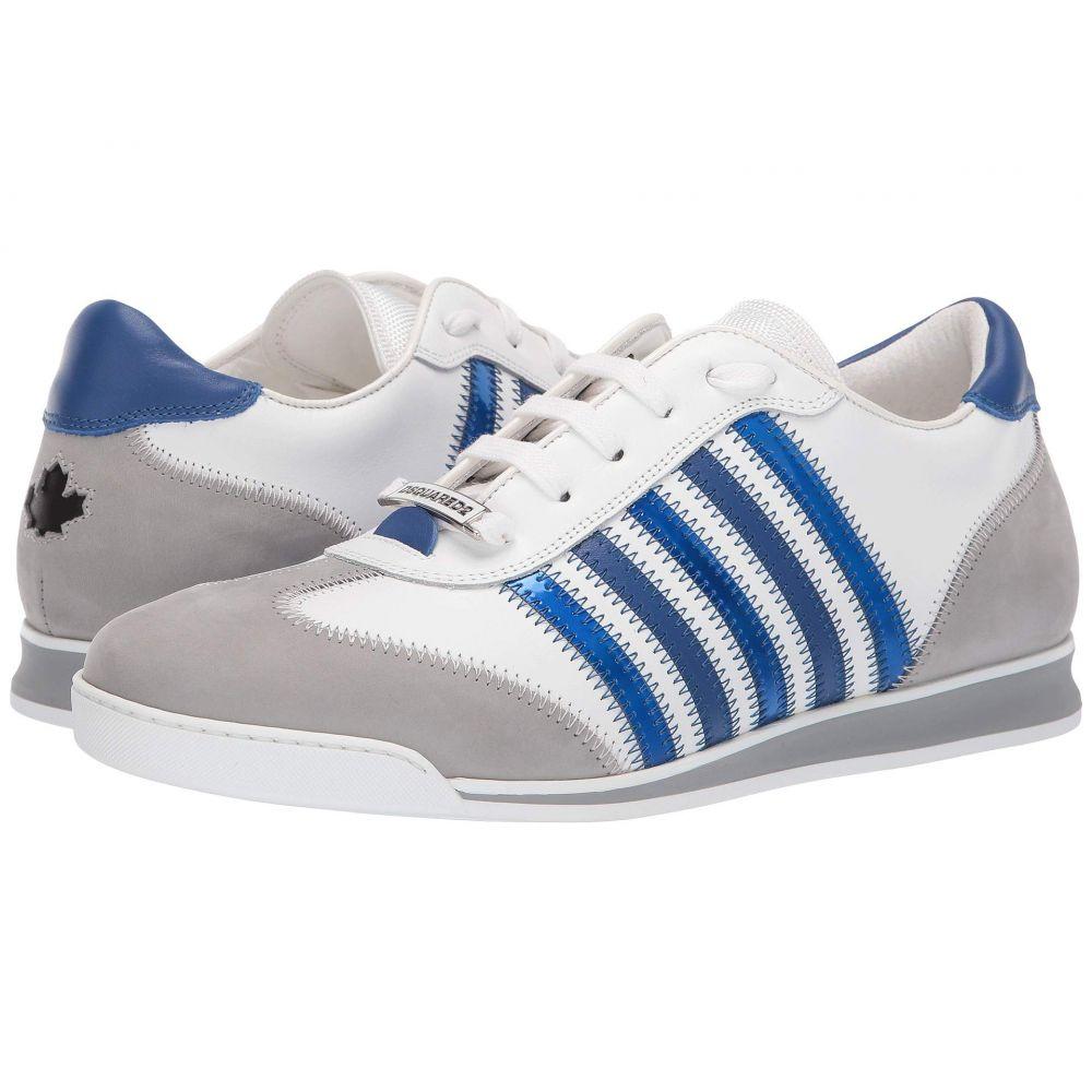 ディースクエアード DSQUARED2 メンズ ランニング・ウォーキング シューズ・靴【New Runner Sneaker】White/Blue