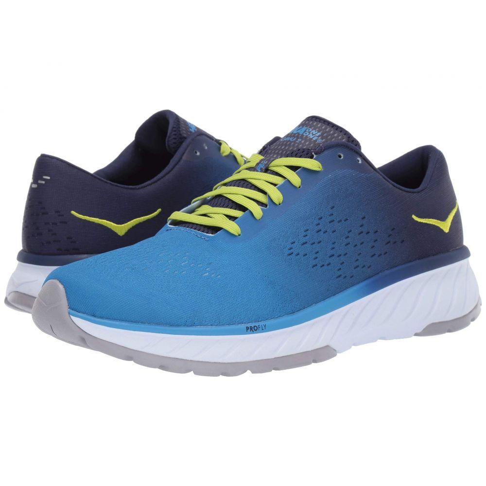 ホカ オネオネ Hoka One One メンズ ランニング・ウォーキング シューズ・靴【Cavu 2】French Blue/Lime Green