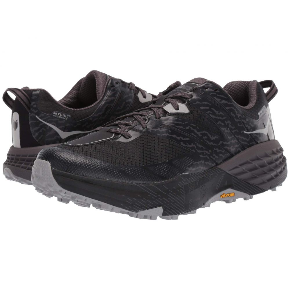 ホカ オネオネ Hoka One One メンズ ランニング・ウォーキング シューズ・靴【Speedgoat 3 WP】Black/Drizzle