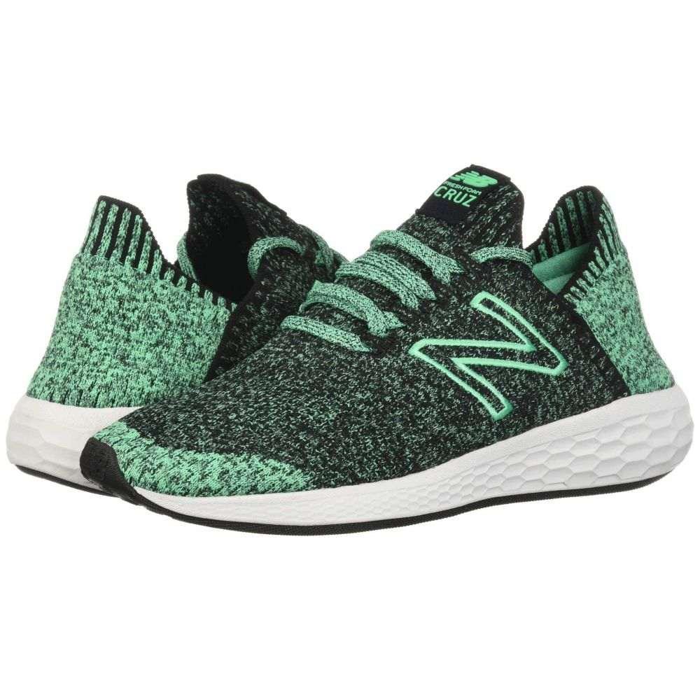 ニューバランス New Balance メンズ ランニング・ウォーキング シューズ・靴【Fresh Foam Cruz v2 Sock Fit】Black/Neon Emerald
