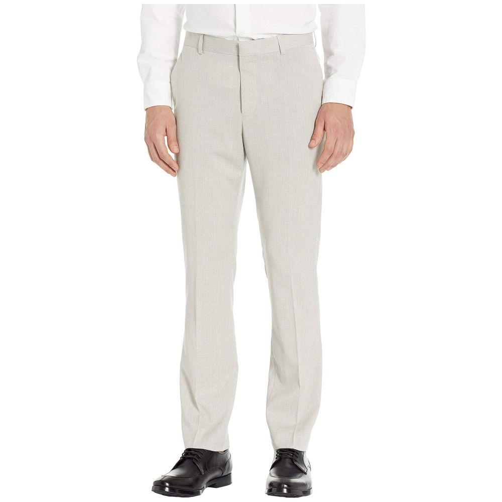 ペリー エリス Perry Ellis メンズ ボトムス・パンツ スキニー・スリム【Slim Fit Stretch End-On-End Dress Pants】Natural Linen