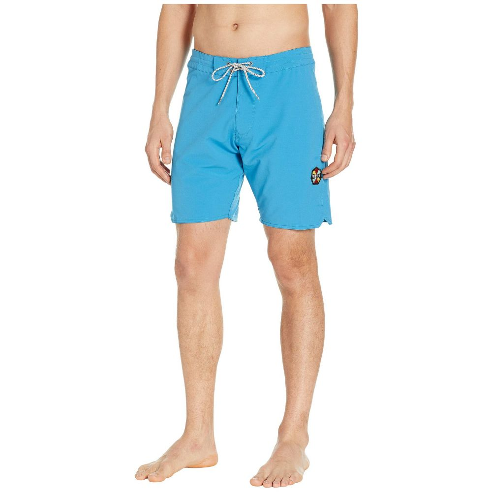 ヴィスラ VISSLA メンズ 水着・ビーチウェア 海パン【Solid Sets Washed Four-Way Stretch Boardshorts 18.5'】Maui Blue