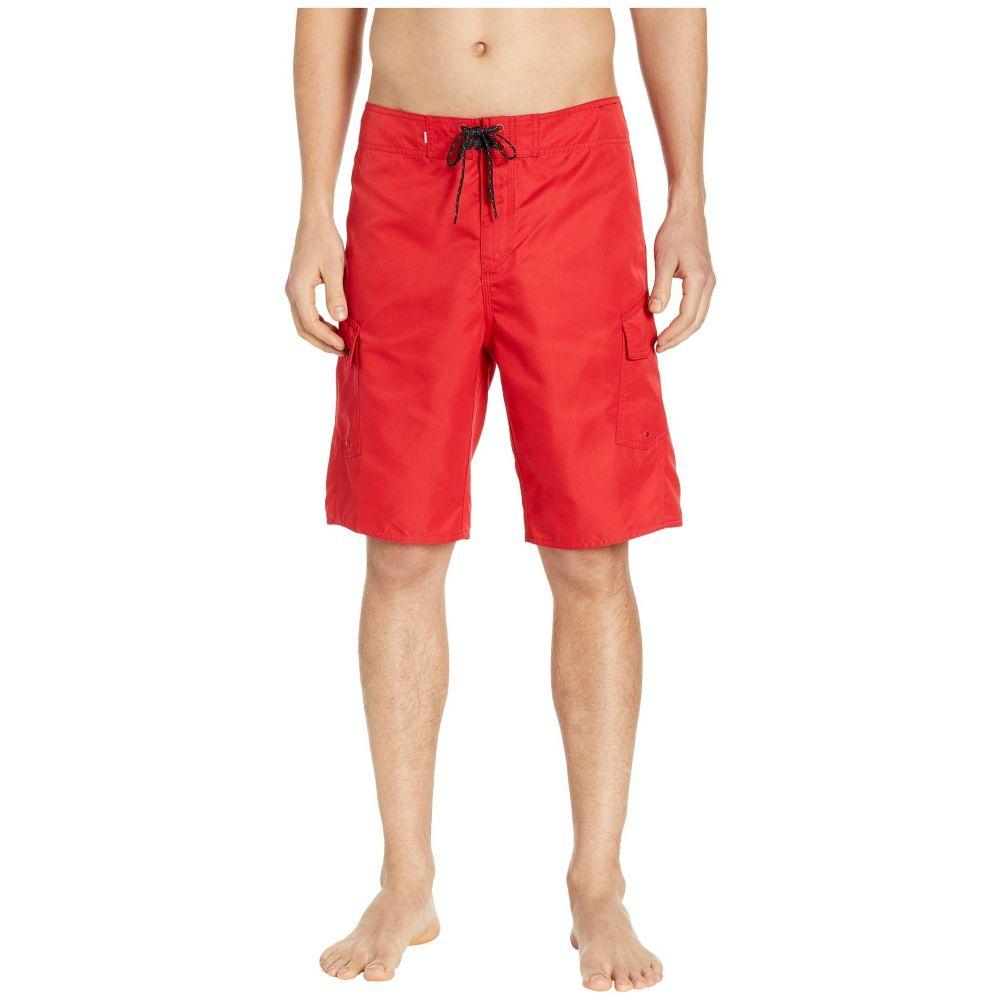 クイックシルバー Quiksilver メンズ 水着・ビーチウェア 海パン【Manic Solid 21' Boardshorts】Quik Red