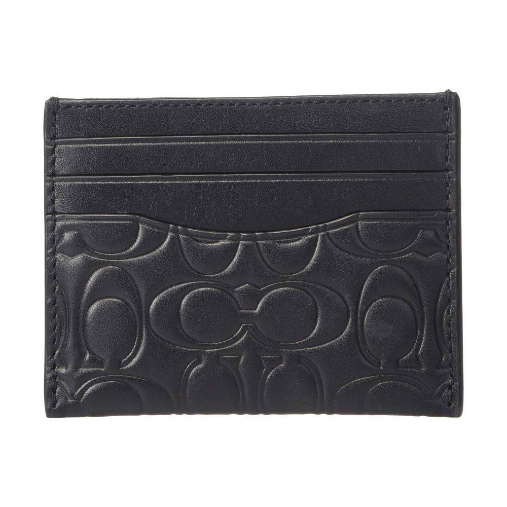 コーチ COACH メンズ カードケース・名刺入れ【Card Case in Embossed Signature Leather】Black