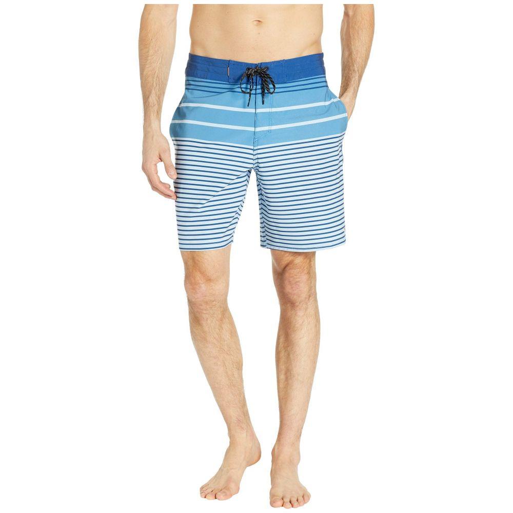 クイックシルバー Quiksilver Waterman メンズ 水着・ビーチウェア 海パン【19' Liberty Stripe Beachshorts】Cerulean