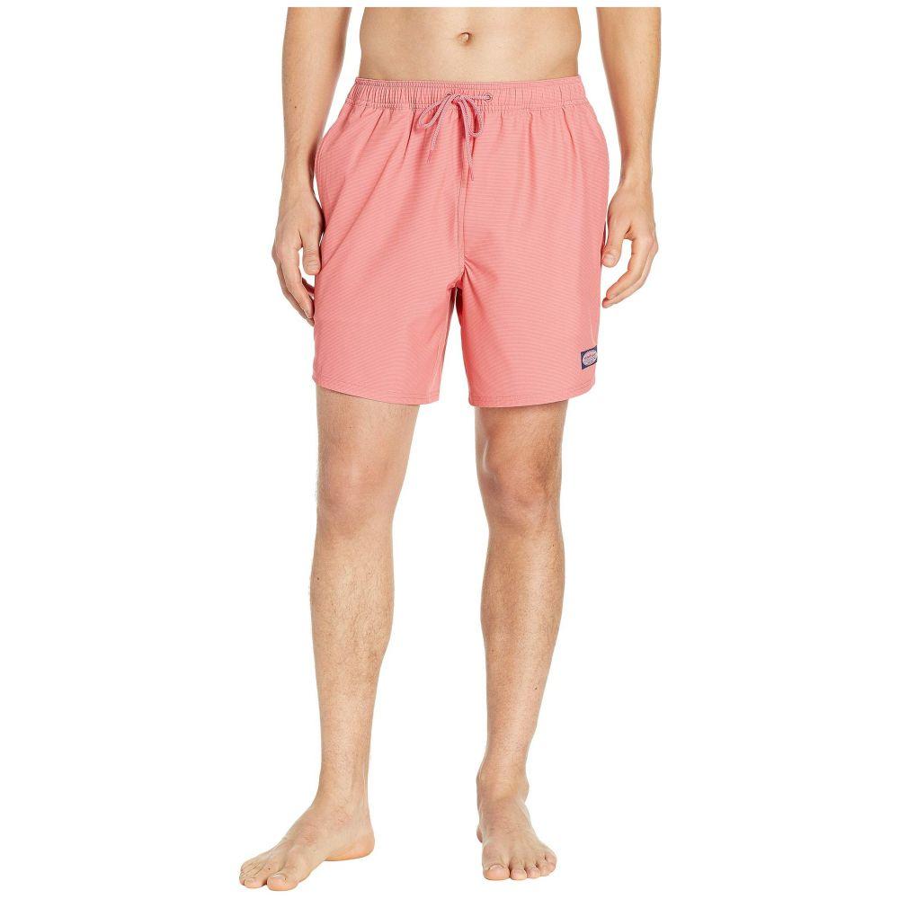 ヴィニヤードヴァインズ Vineyard Vines メンズ 水着・ビーチウェア 海パン【Fine Line Stripe Chappy Swim Shorts】Jetty Red