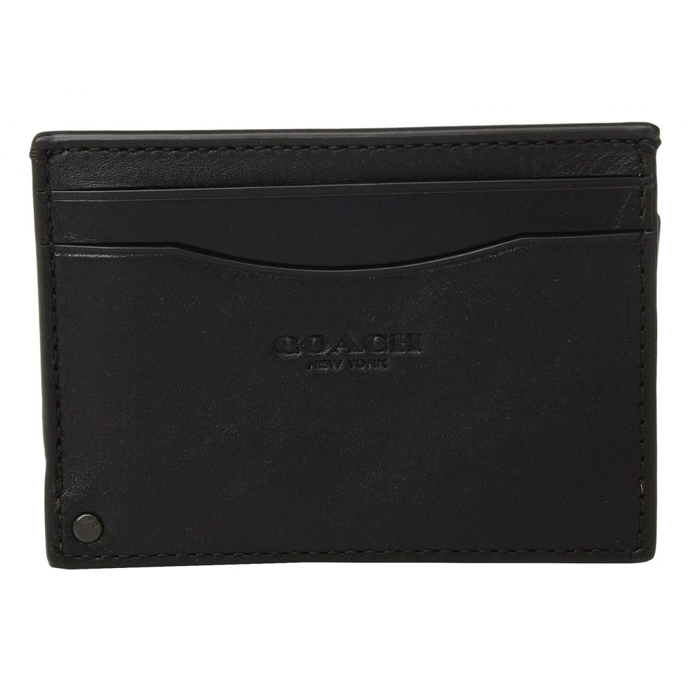 コーチ COACH メンズ カードケース・名刺入れ【Swivel Card Case in Signature Coated Canvas】Charcoal