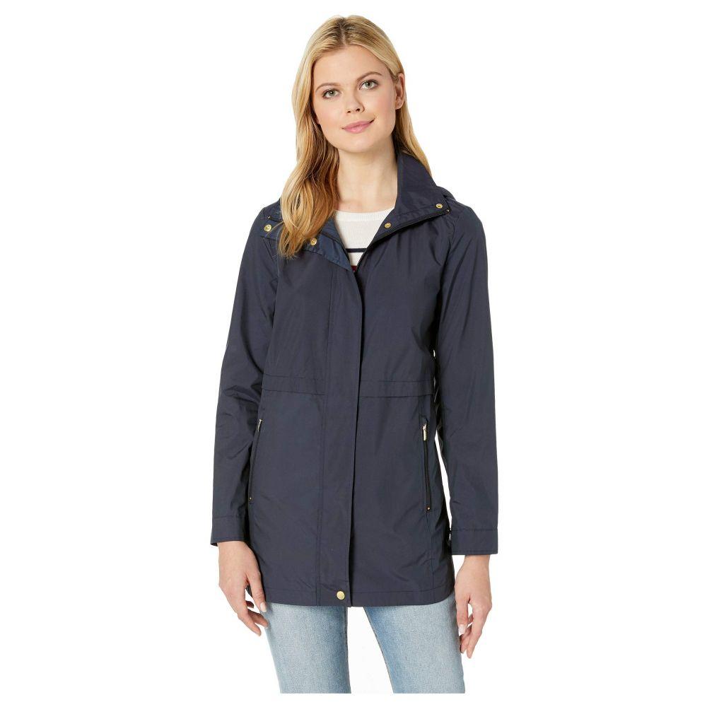 コールハーン Cole Haan レディース アウター レインコート【Travel Packable Zip Front Rain Jacket with Detachable Hood】Indigo