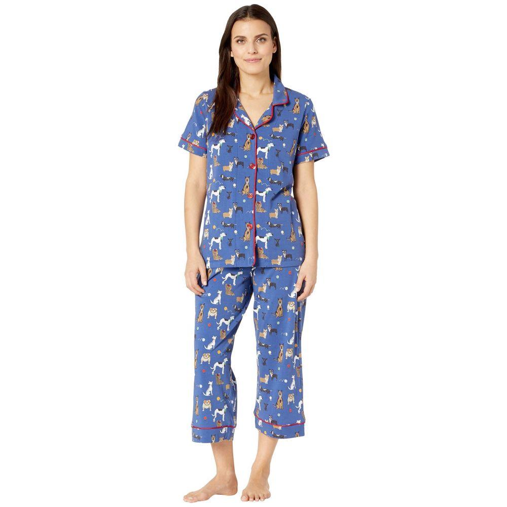 ベッドヘッド BedHead レディース インナー・下着 パジャマ・上下セット【Short Sleeve Cropped Pajama Set】Dog Park