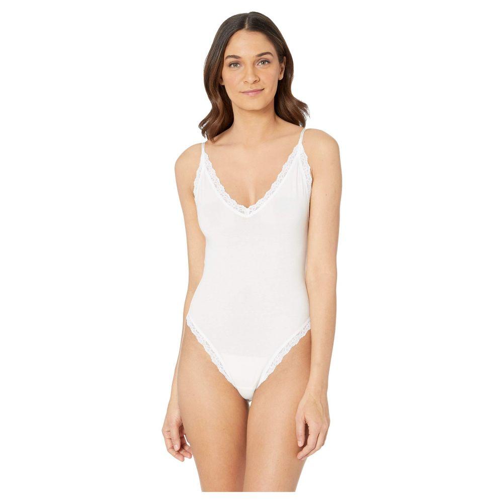 ハンキーパンキー Hanky Panky レディース インナー・下着 ボディースーツ【Cotton Thong Back Bodysuit】White