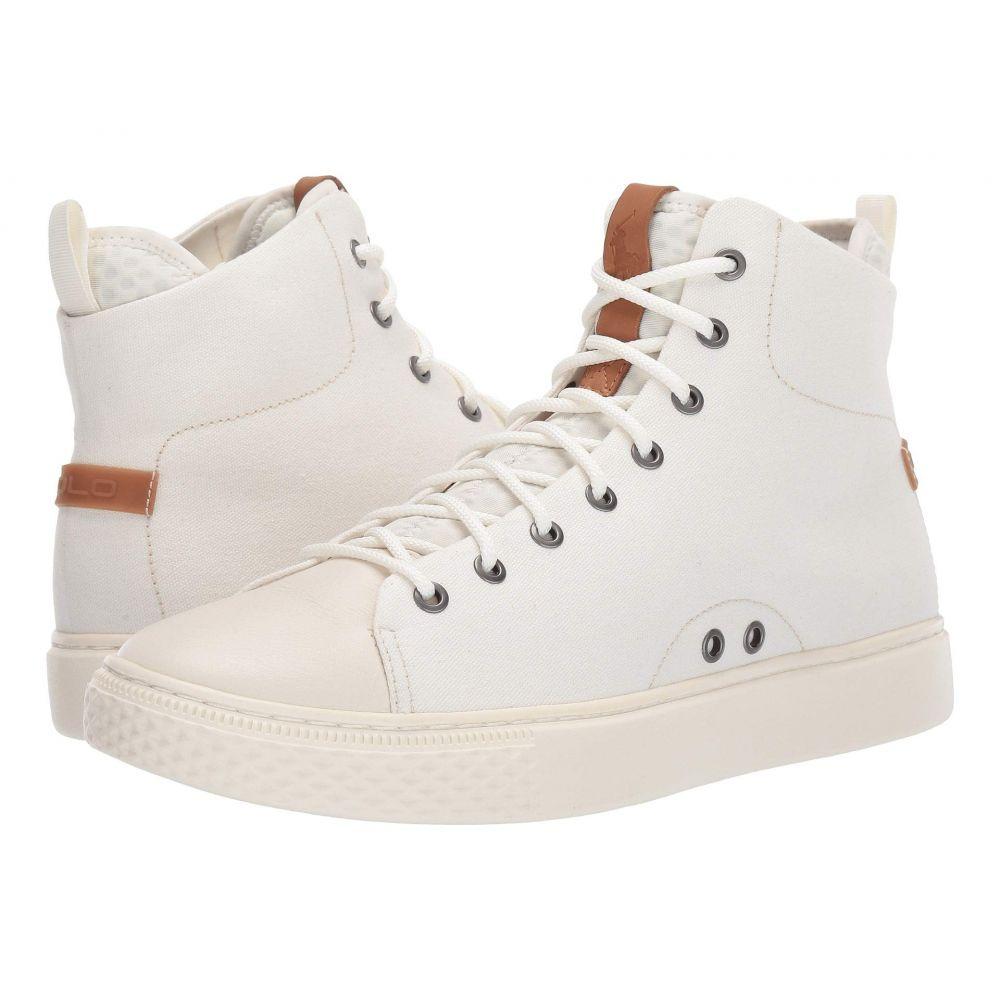 ラルフ ローレン Polo Ralph Lauren メンズ シューズ・靴 スニーカー【Delaney】Egret Canvas/Leather
