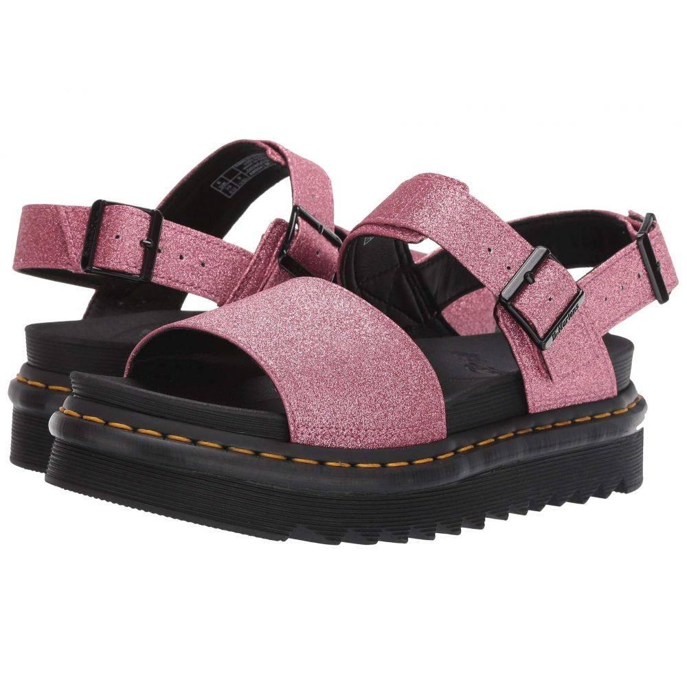 ドクターマーチン Dr. Martens レディース シューズ・靴 サンダル・ミュール【Voss Zebrilus】Pink Fine Glitter