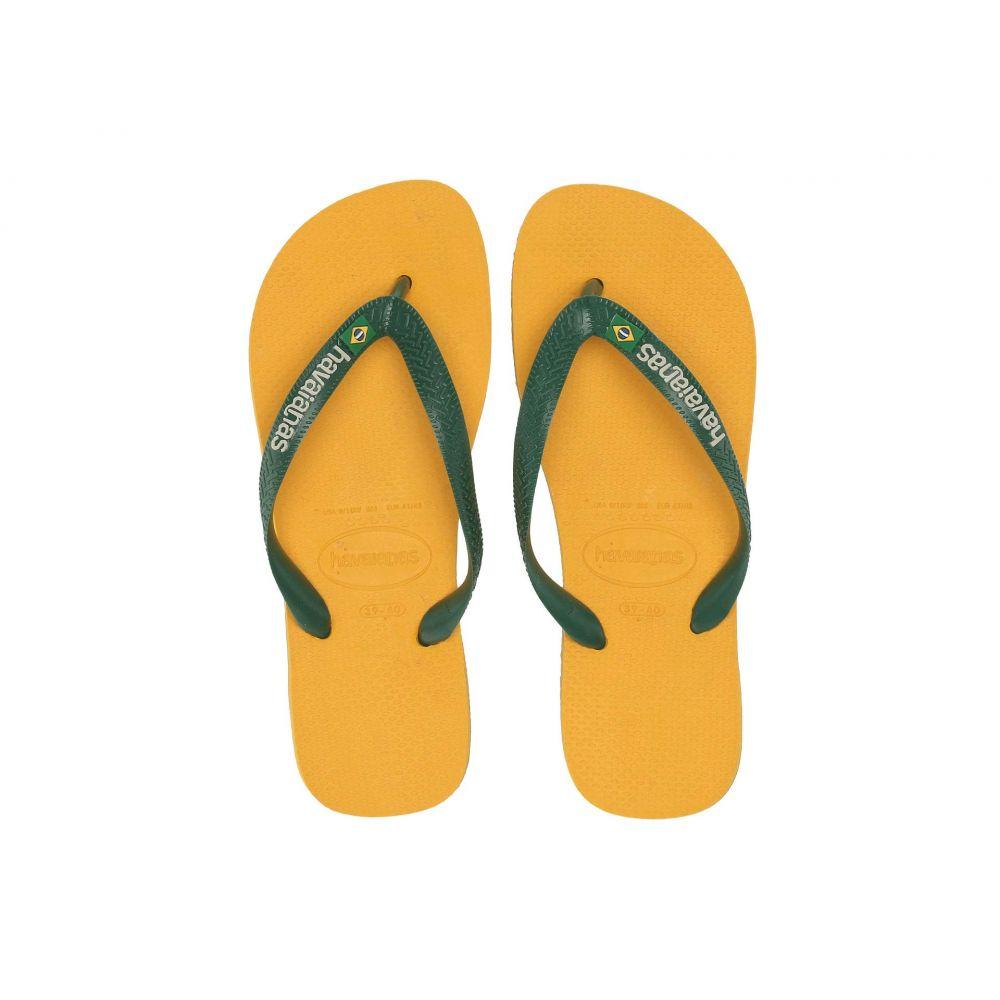 ハワイアナス Havaianas レディース シューズ・靴 ビーチサンダル【Brasil Logo Unisex Flip Flops】Banana Yellow