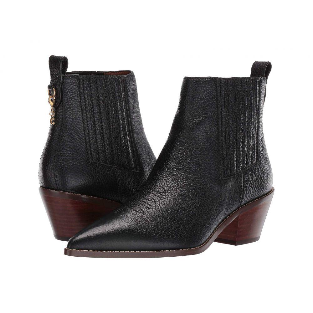 コーチ COACH レディース シューズ・靴 ブーツ【Melody Western Stitch Bootie】Black Leather