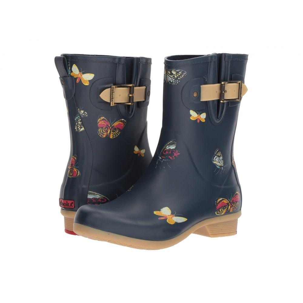 チューカ Chooka レディース シューズ・靴 レインシューズ・長靴【Butterfly Mid Rain Boots】Navy