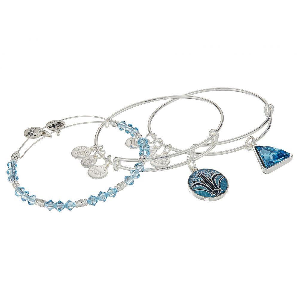 アレックス アンド アニ Alex and Ani レディース ジュエリー・アクセサリー【Blue Lotus Set of 3】Shiny Silver